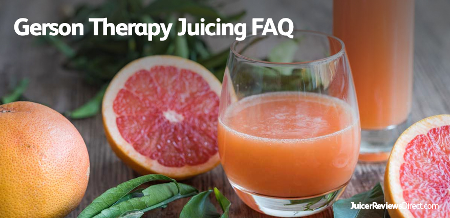 Gerson Therapy Juicing FAQ